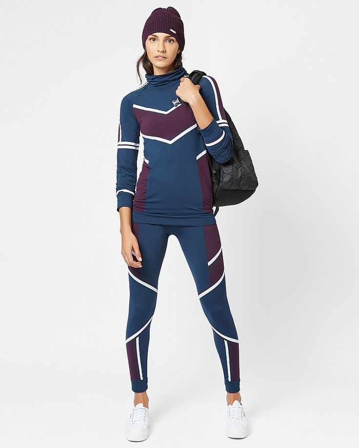 Perfect for Skiing!!! All that she wants is another base layer, especially this colour block seamless style. Crafted in quick-drying fabric, a high-neck, statement jacquard and contrast colour block panels guarantee statement style. As technical as it is beautiful, the high collar and ribbed cuffs and hem block out cold on and off the slopes