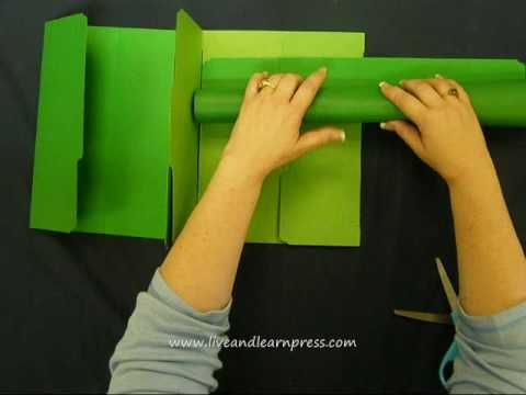 Combination bound book and gate-fold foundation lapbook
