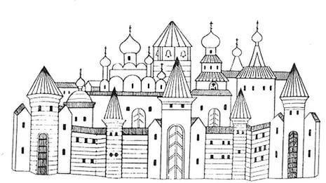 старинный русский город крепость рисунок: 25 тыс ...