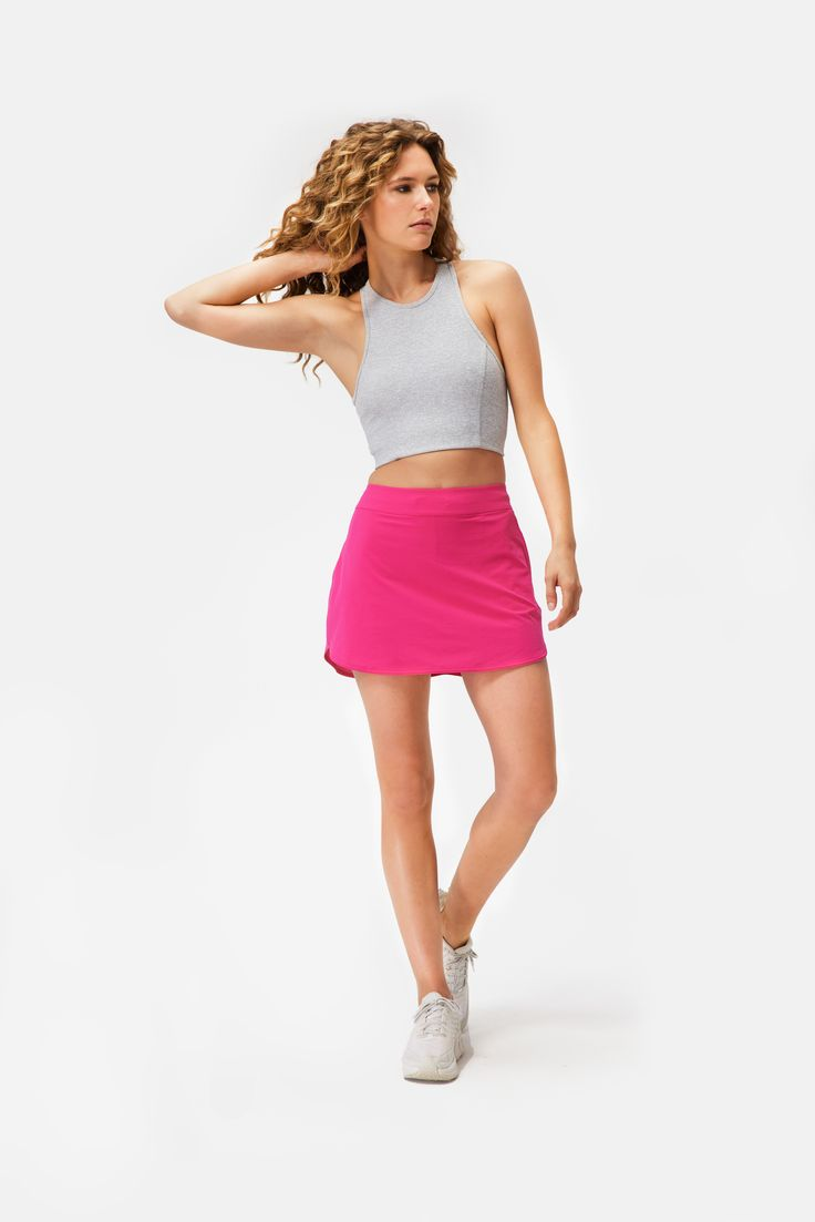 This sporty skort is versatile and confidence boosting. Made in our breathable LightSpeed fabric featuring a built-in shorts liner and phone pocket. Dress Me Up, I Dress, Beautiful Black Women, Beautiful People, Cool Blonde Hair, Body Transformations, Skort, Exercises, Ab Workouts
