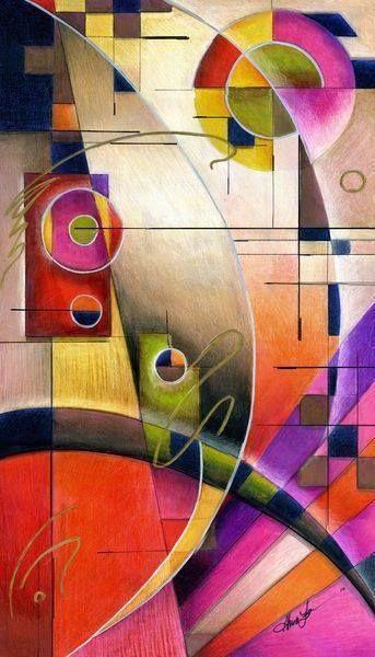 "Not by Kandinsky, this is ""Kandinsky Cadence"" by Alma Lee, a tribute to Kandinsky. Contemporary"