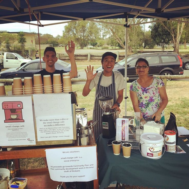 small change cafe crew are having a ball at Fairfield Family Picnic today- we are here til 4pm at Robinson Park