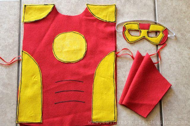 Dragonfly Designs: No Sew SUPER HERO COSTUMES Tutorial