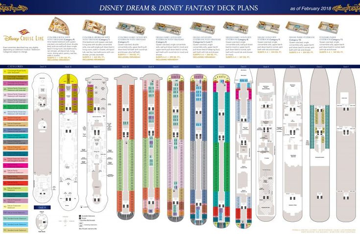 Disney Cruise Line's Disney Dream & Disney Fantasy Deck Plans including laundry locations updated February 2018. Click Here to View Full Screen Version Disney Cruise Line's Disney Dream & Disney Fantasy Deck Plans including laundry locations updated March 2017. This update show the changes to the Disney