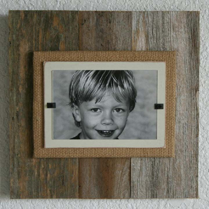 Reclaimed Wood & Burlap Frames - Natural - 53 Best Reclaimed Wood Projects Images On Pinterest