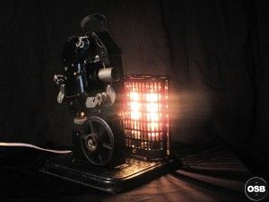 LAMPE TRACTOR ancienne camera steampunk industriel industrial