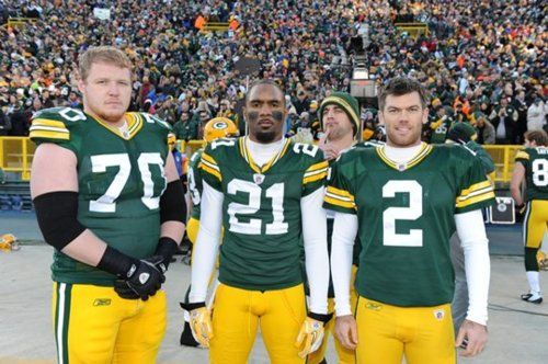 That moment you realize that Aaron Rodgers is photo bomber: expert level. :)  love him! :)this sit has every photo bomb he's done.