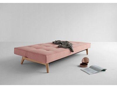 Splitback sofa bed with eik legs
