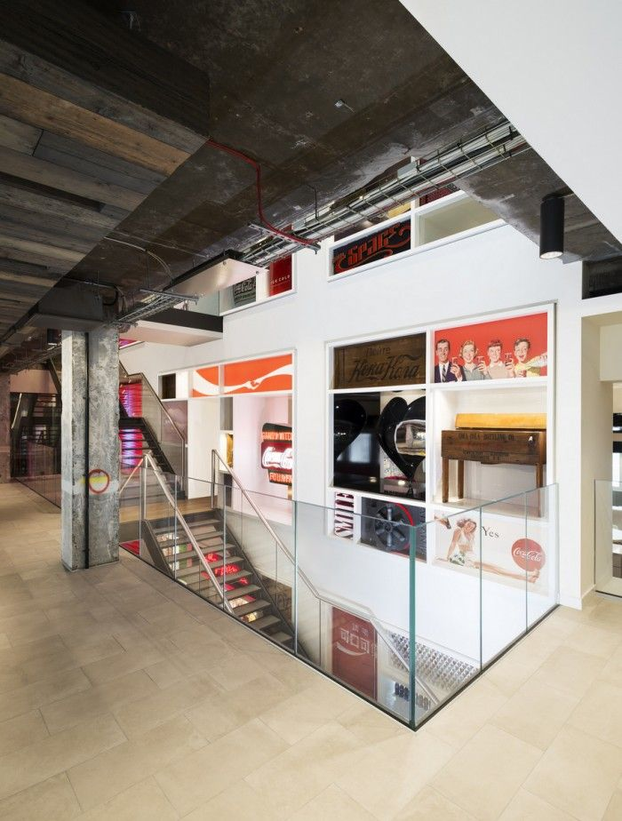 Coca-Cola_Heritage display wall_exposed soffit_Gilbert McCarragher