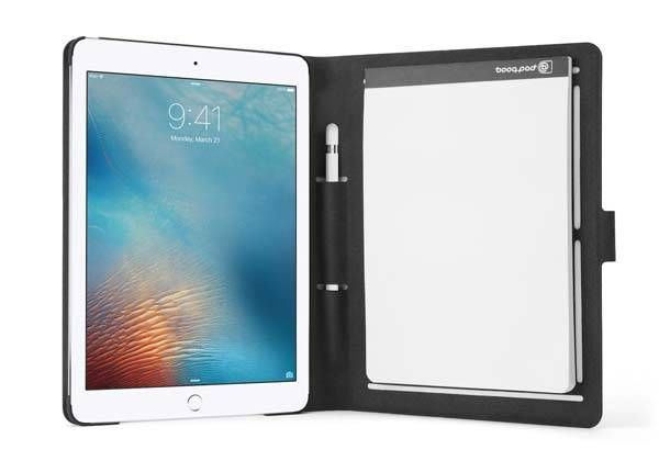 Booqpad 9.7″ iPad Pro Case with Apple Pencil Holder and Removable Notepad |Gadgetsin