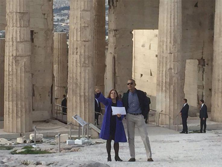 Στον Ιερό Βράχο της Ακρόπολης ο Μπαράκ Ομπάμα (pics) | Plus: Πολιτική | gazzetta.gr