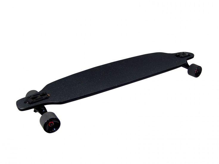 """Longboard """"Black Mamba"""" aus Bambusholz von Triway Sports - Das edle Board im """"Darth"""" Look - lautlos und schnell  Dieses Longboard garantiert ein unvergleichliches Fahrgefühl sowohl für Anfänger als auch Fortgeschrittene. Durch das verarbeitete Bambus-Holz bietet es eine erhöhte Tragfähigkeit und gewährleistet auch bei hohen Geschwindigkeiten die Kontrolle."""