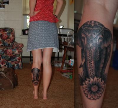 elephant on back of calf cool don t like