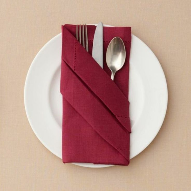 Napkin folding instructions cutlery Pocket tinker