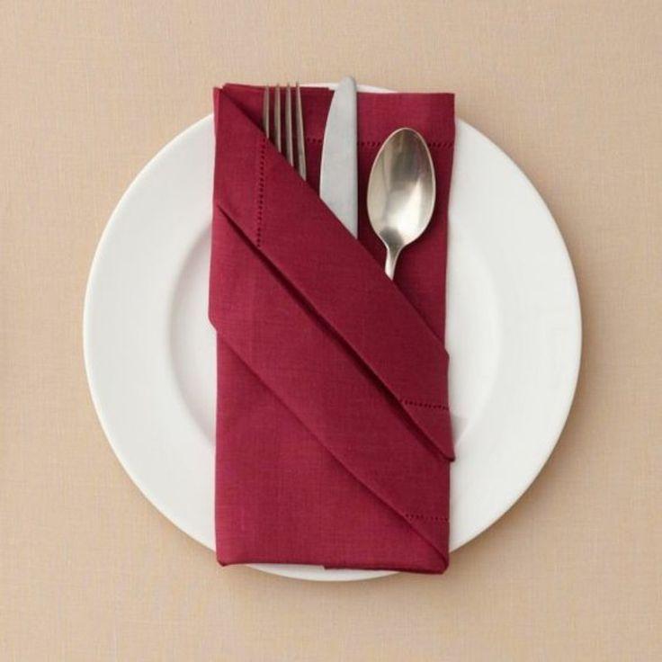 Napkin folding instructions cutlery Pocket tinker