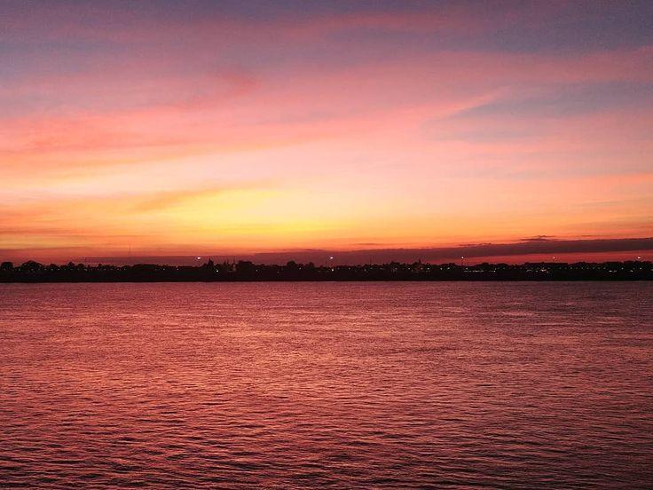 "This sunset was stunning in Thakhek, Laos (@maymayzinha) on Instagram: ""🔥#sunset"""