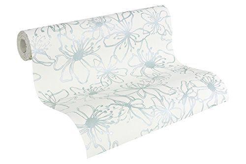 A.S. Création NAF NAF 952273 - Carta da parati in tessuto non tessuto, con motivo decorativo, floreale, colore: bianco puro, turchese pastello A.S. Création http://www.amazon.it/dp/B00IMEN9W2/ref=cm_sw_r_pi_dp_qd-zub11FSGJR