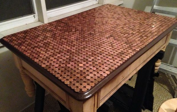 How To Make A Penny Top Coffee Table DIY