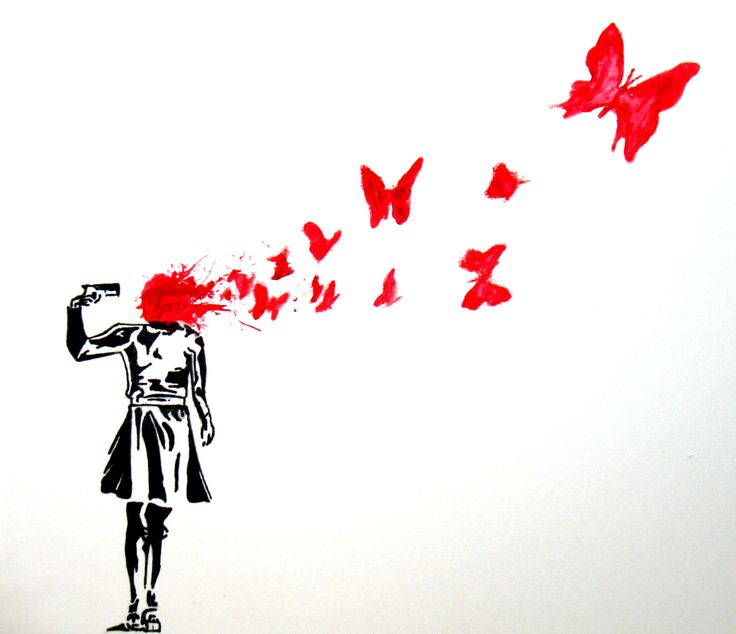 Banksy - Butterfly Suicide