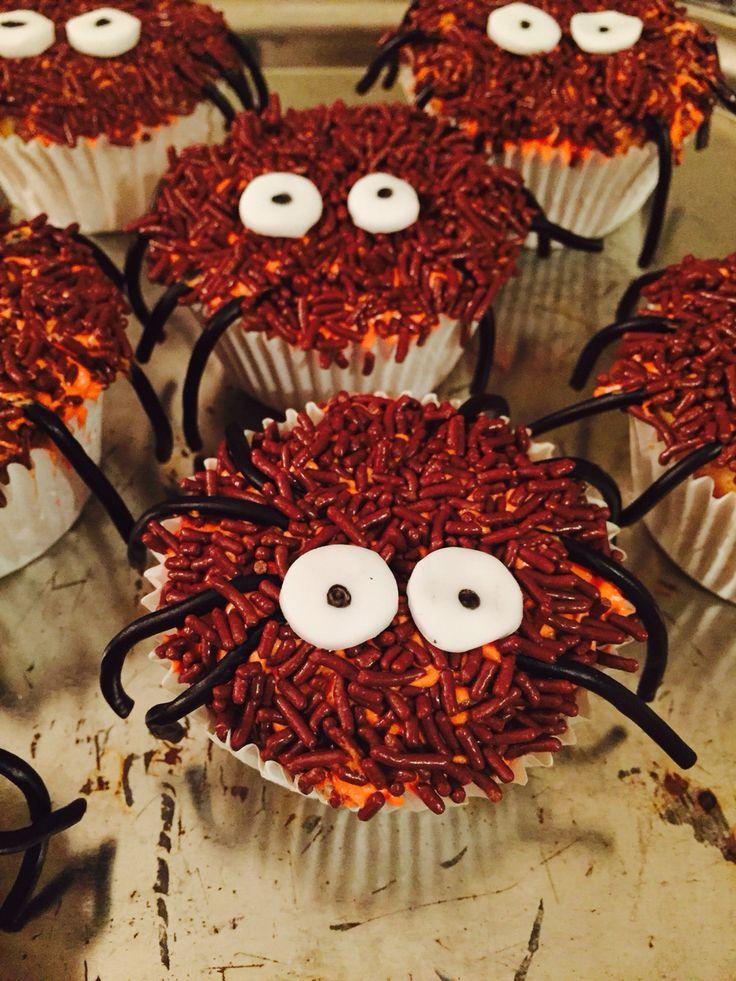 Spinnen cupcakes