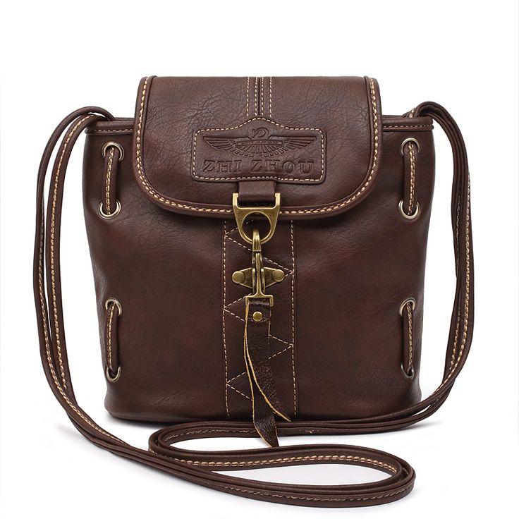 Купить товарЖенские сумки почтальоны, ретро, сумки для женщин с длинной ручкой, женские дизайнерские винтажные кожаные сумки, сумки через плечо в категории Сумки на плечона AliExpress.  Примечание: синий нет запаса     Сумка женские сумки женские ретро кожаные сумки дамы Кроссбоди сумки для женщин Bolsa