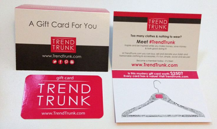 Claim a Trend Trunk Gift Card worth up to $250.