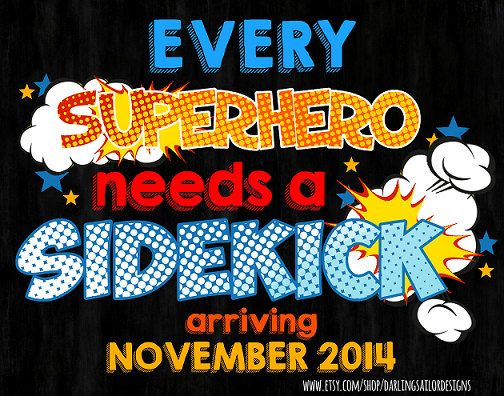 every superhero needs a sidekick pregnancy announcement by