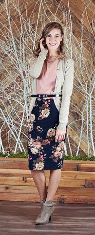 Taupe Cardigan - see more modest clothing and fashion at ModestPop.com