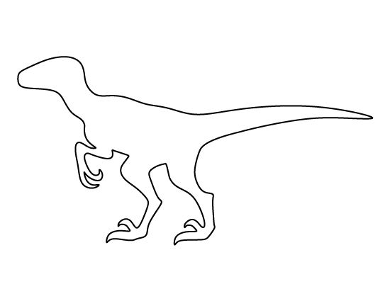 Velociraptor pattern use the printable outline for crafts for Printable dinosaur skeleton template