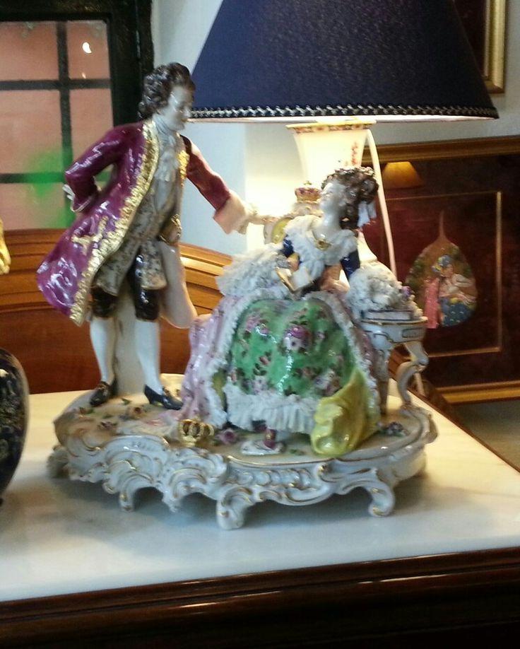 Italian capodimonti figurine