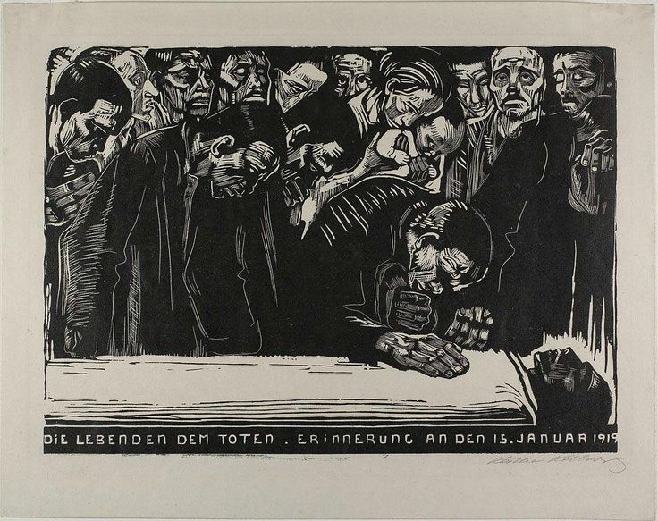 """Anya on Twitter: """"Kathe Kollwitz's ability to project emotion is arresting - In Memoriam for Karl Leibknecht, unbelievably a woodcut http://t.co/05LlBPg9IR"""""""