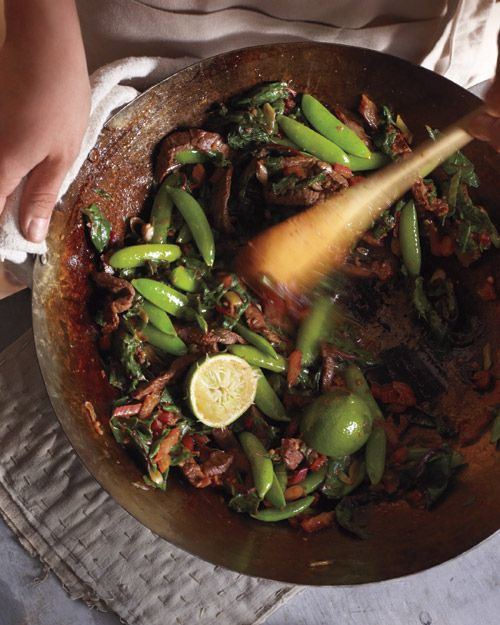 Swiss Chard, Snap Peas, and Beef Stir-Fry | 51 Healthy Weeknight Dinners That'll Make You Feel Great