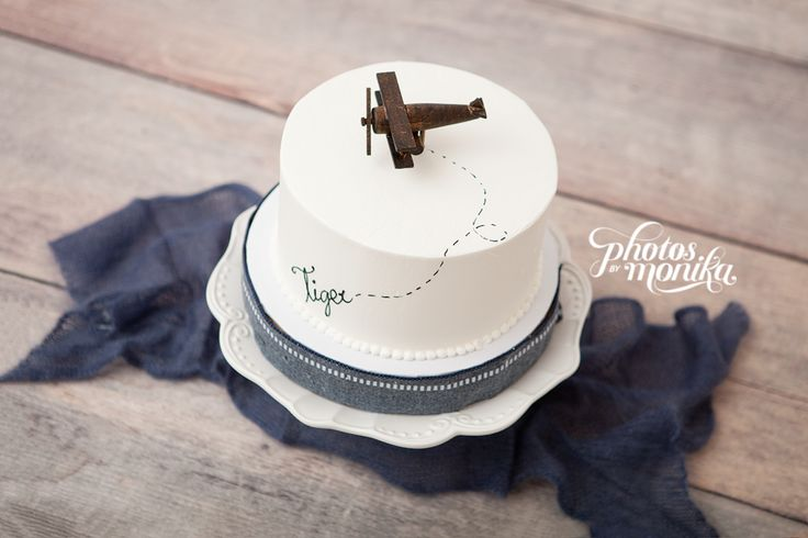 Airplane Cake Topper, Old-fashioned, Vintage Look Wood Toy Plane, smash the cake by Over The Top Cake Toppers - Photo by Monika O'Deegan