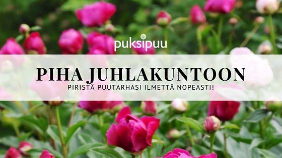 Nautitaan kesästä ja puutarhajuhlista! Lue lisää blogipostauksestani. Mukana myös tulostettava tarkistuslista. www.puksipuu.com