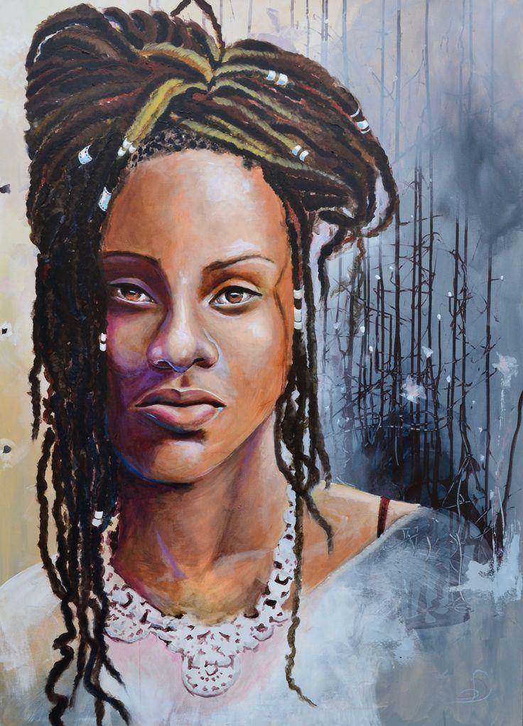 Portal 100X 140 cm. Acrylic on canvas. made by Naja Duarte.