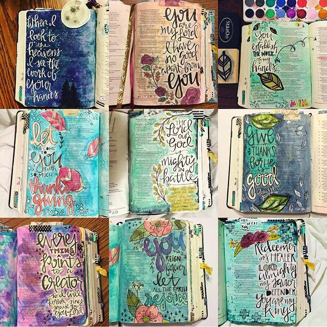 1109 best images about art scripture journal on pinterest for Decorated bible