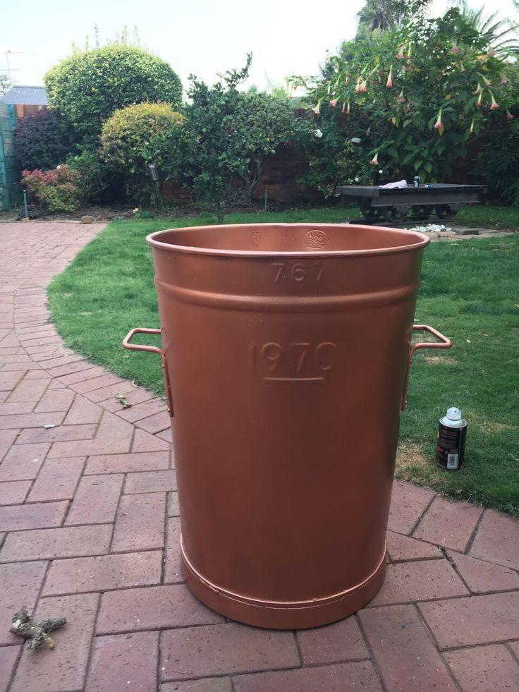 DIY rose gold washing bin