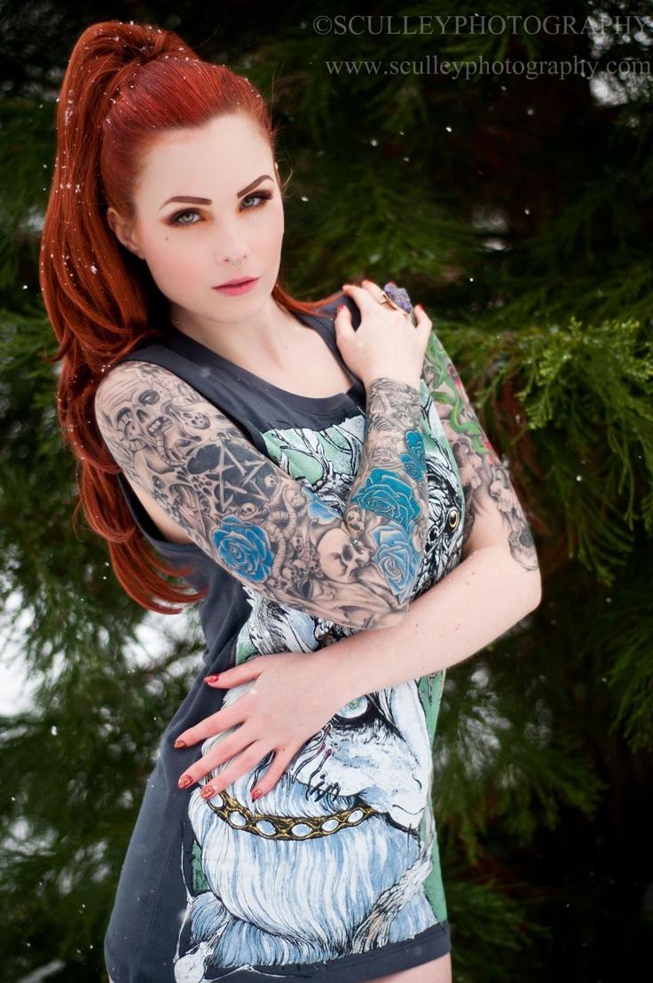 redhead tattoo models