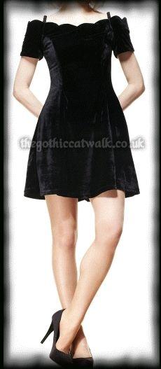 Spin Doctor Black Velvet Jessica Dress