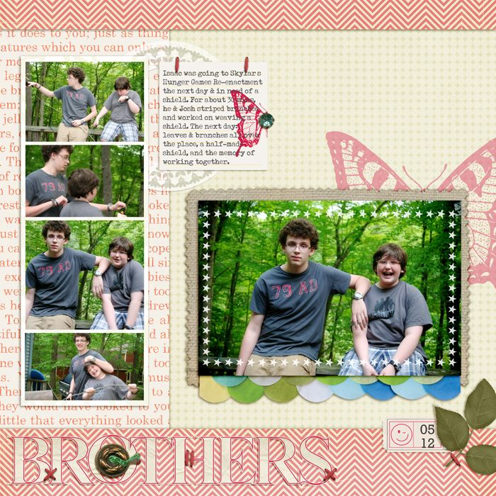 Scrapbook page of brothers to illustrate visual design grounding