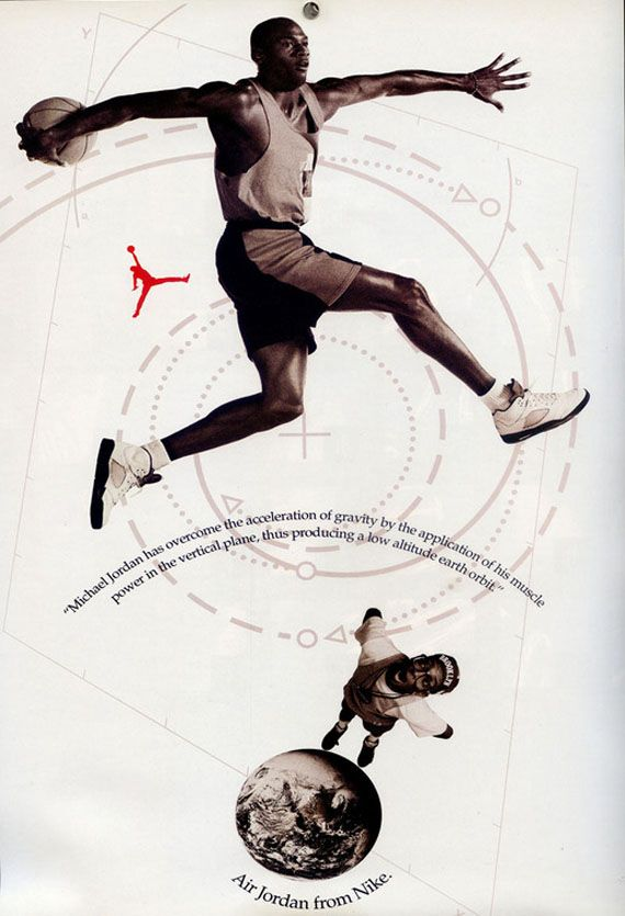 another early graphic design inspiration. air jordan.