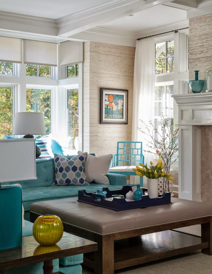 99 best images about turquoise on pinterest house of for Teal wallpaper living room