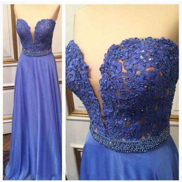 Lace Prom Gowns Homecoming Dresses Deep V Neckline pst0438