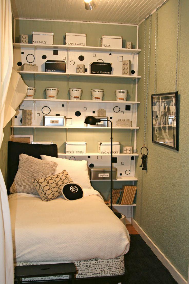 Small bedroom organization.