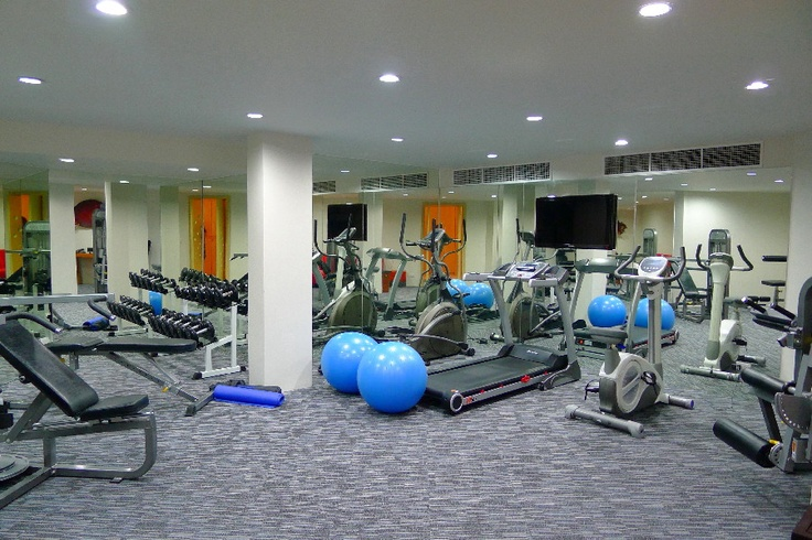 Stay in shape at the in-house gym at the Luxury Beachfront Condo in Phuket, Thailand