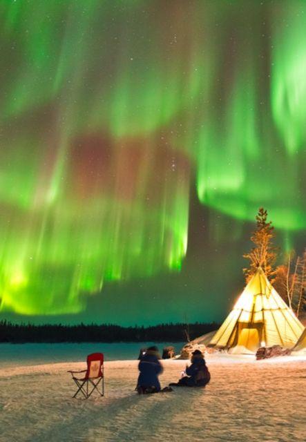 Aurora over Northern Canada
