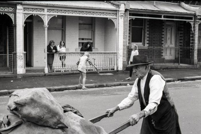 """Moor Street, behind Fitzroy Town Hall, before the """"trendification"""" of Melbourne's inner city suburb of Fitzroy."""