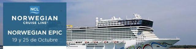 Ofertas de viajes en www.viajesviaverde.es: Última hora Cruceros NCL Epic, 19 y 25 de Octubre