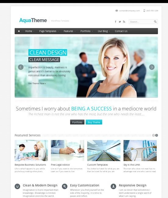 Tema Aqua #wordpress #theme