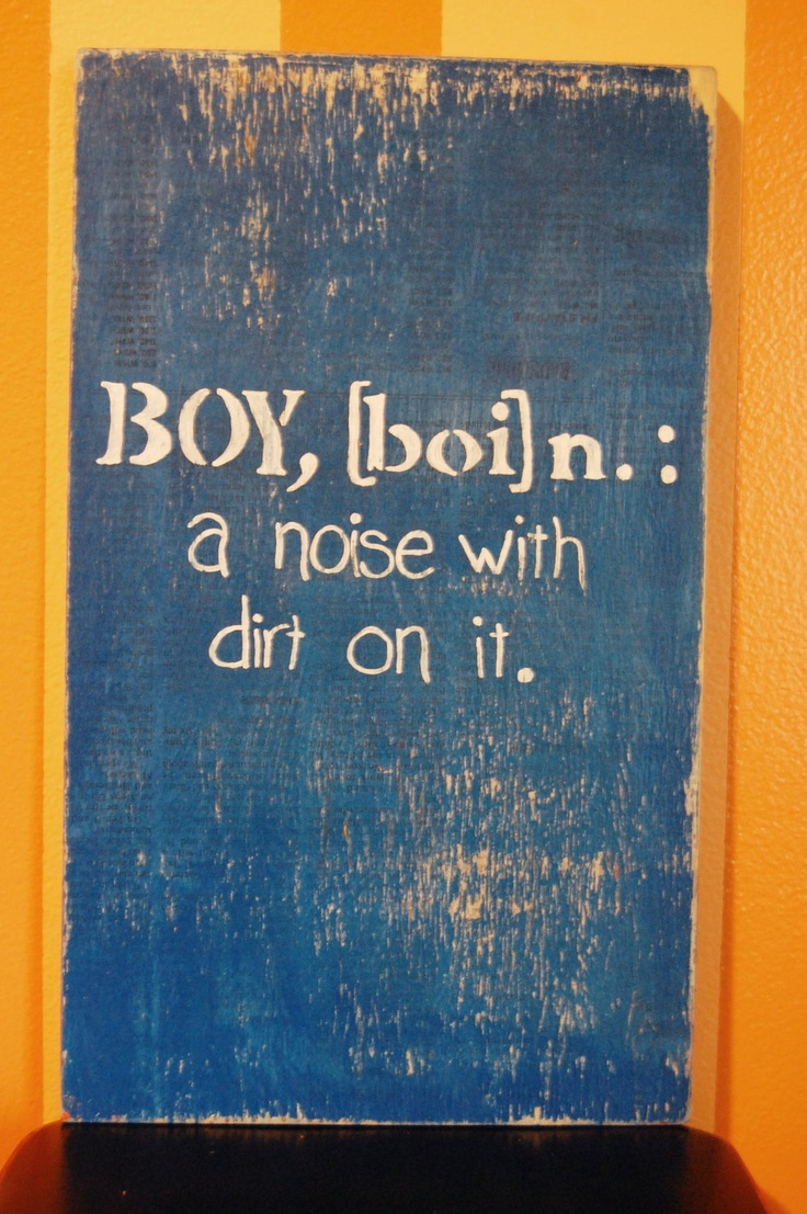 Definition of Boy Wooden Sign. This literally belongs in my future bathroom. I'll need a girl's one too though to even it out ;) This perfectly explains my fiance.
